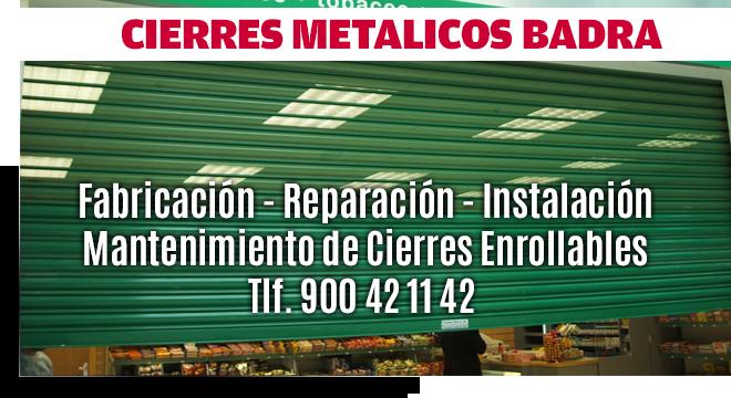 cierres metalicos comercios