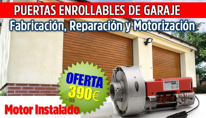 reparacion puertas enrollables garajes