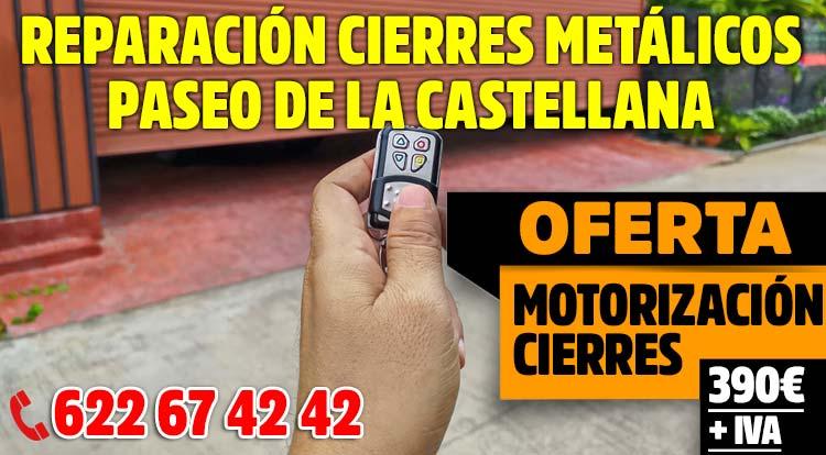 reparacion cierres metalicos enrollables Paseo de la Castellana