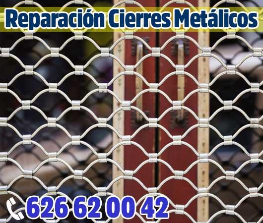 Reparacion cierres metalicos enrollables en Alcobendas